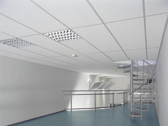 Dalles de plafonds suspendus en laine minérale